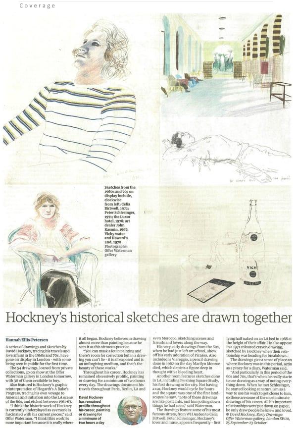 David Hockney, Early Drawings: Guardian