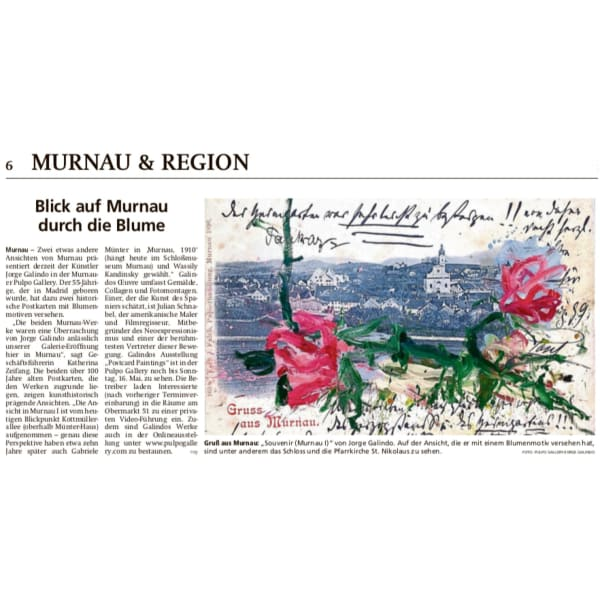 In the news: View of Murnau through the flower