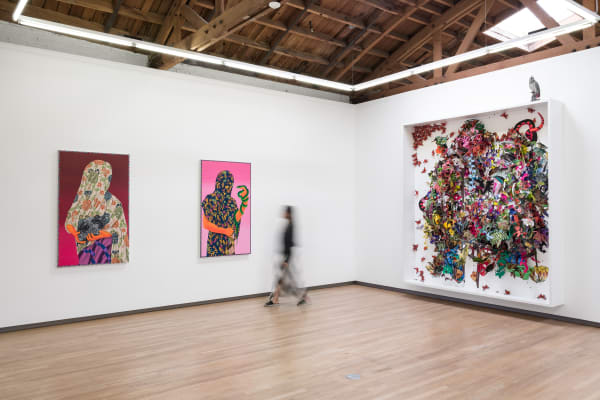 Installation view of Intersecting Selves, Jul 10–Aug 28, 2021, Shulamit Nazarian, Los Angeles