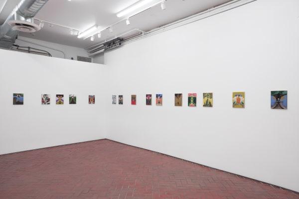 Installation view of Bridget Mullen: Birthday at Shulamit Nazarian, Los Angeles, July 10–August 28, 2021