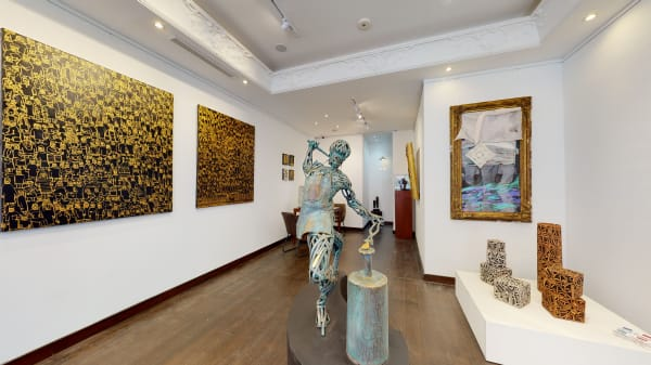 Installation of the gallery, image courtesy Mora Limited