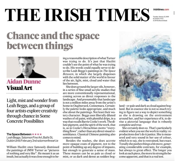 IRISH TIMES: Leah Beggs Review