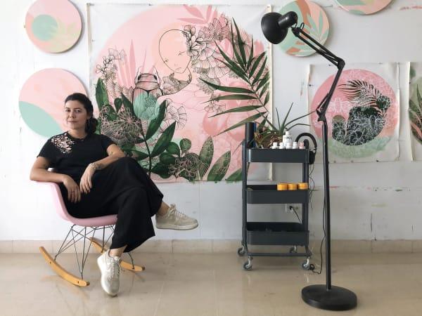 """<span class=""""artist""""><strong>Maria Camila Bernal</strong></span>, <span class=""""title""""><em>Atardece en el Trópico 26</em></span>"""