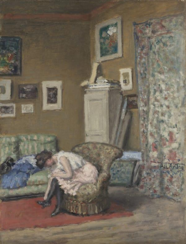Albert André, Femme dans l'atelier , c.a 1895