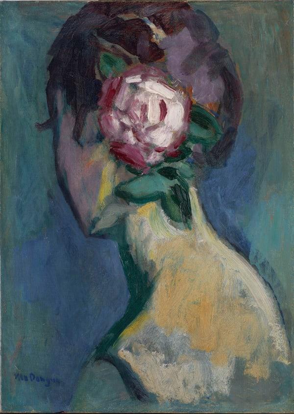 Kees Van Dongen, Femme à la rose, c.1925