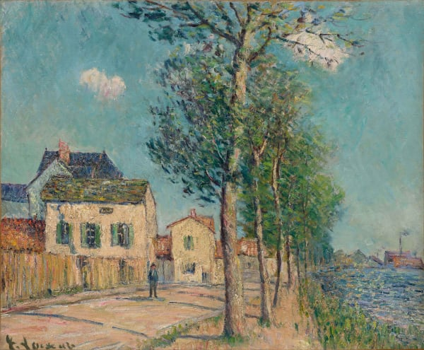 Gustave Loiseau, Chemin au bord de l'Oise, Quai du Pothuis, c.1905