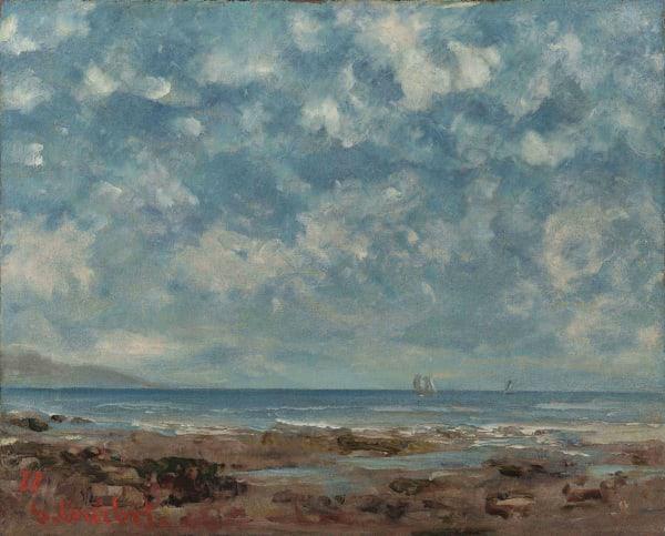 Gustave Courbet, Vue du Lac Léman, 1877
