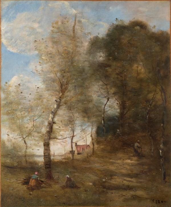 Jean-Baptiste Camille Corot, Le Chemin montant sous les arbres à Ville-d'Avray, c.1870-1875