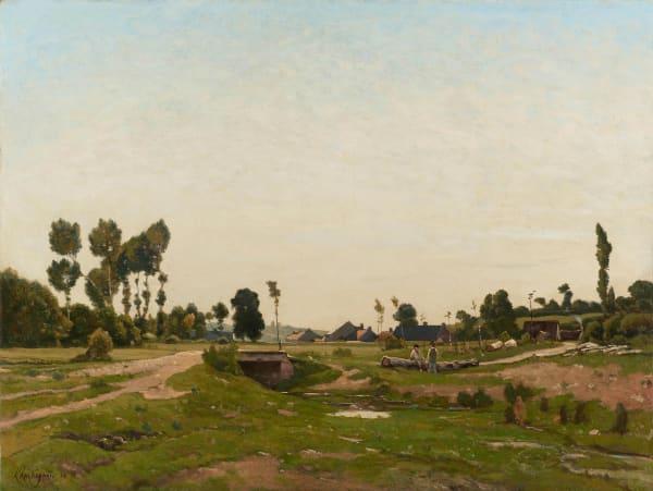 Henri Joseph Harpignies, Conversation près du ruisseau,, 1883