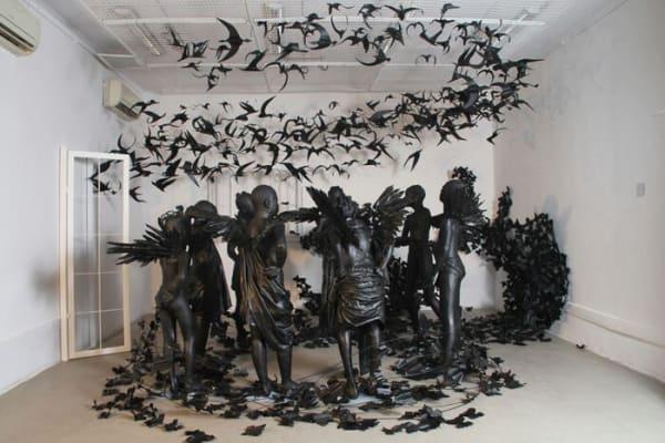 Sulger-Buel Gallery artist's Joachim Silué & Péju Alatise at Venice Biennale 2017 (BBC News)