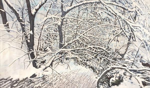 John Troxell, Winter Trees II, 2020