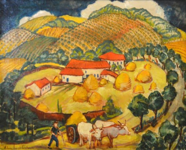 William Joseph Eastman, Farm Landscape with Oxen