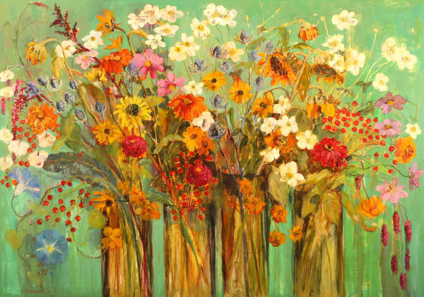 Carol Stewart, 1342 Anemones, Thistles, Rosehips, 2013