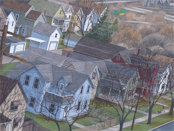 Thomas Roese, 746 - Cle Series: Winter Lives, Mill Patterns with Dog, 2014