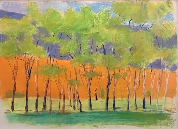 Wolf Kahn, Orange Through the Middle, 1997
