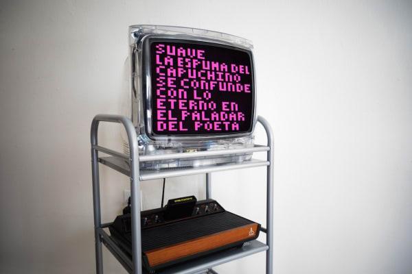 Yucef Merhi's Atari Poetry VI Photo courtesy of The Bonnier Gallery