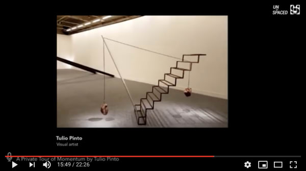 Private visit of Momentum, personal exhibition by Tulio Pinto at MARGS Museum