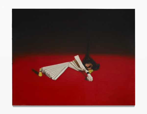 Leopold RABUS, Femme pliant une serviette, 2015
