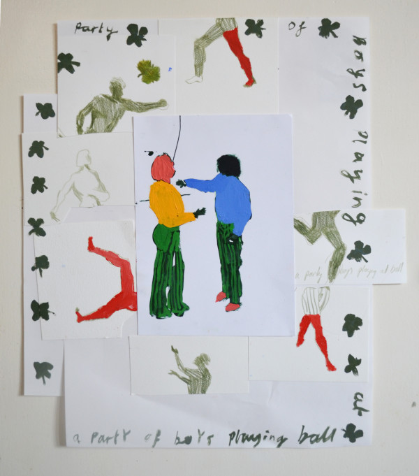Ed Burkes, A Party of Boys Playing At Ball , 2018