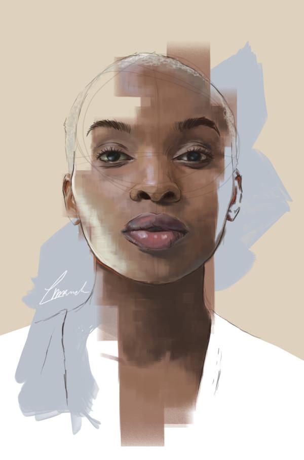 Louise Mandumbwa  Joy  Digital Illustration  36 x 22