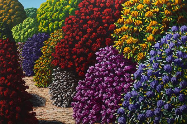 Karl Maughan  Mangaweka, 2018  Oil on canvas  122 x 183 cm  48 1/8 x 72 1/8 in