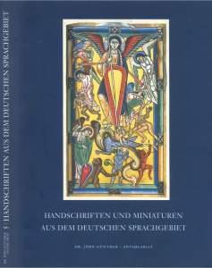 Handschriften und Miniaturen aus dem deutschen Sprachgebiet
