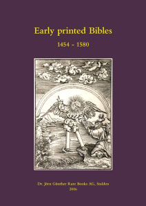 Early Printed Bibles 1454-1580