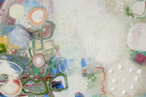 "Detail of ""Snowpearl"" by Josette Urso, 2013"