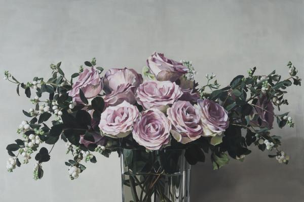 Ben Schonzeit 'Dusky Rose' Acrylic on linen, 183 x 213.4 cm