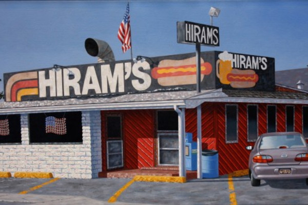 """Hirams"" by Mark Oberndorf - Oil on canvas, 40.5 x 76cm"