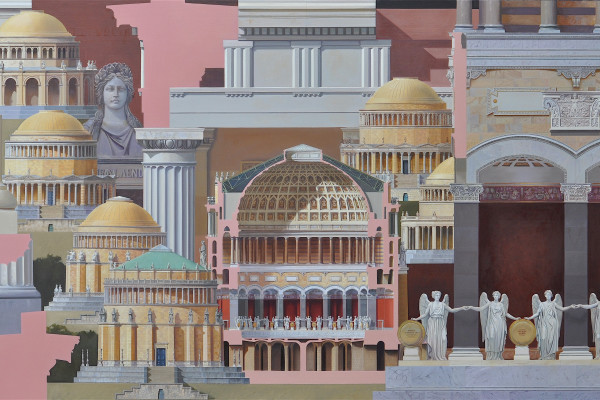 'Befreiungshalle' 2016, Oil on canvas, 110 x 190 cm