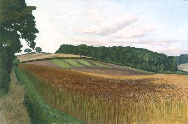 <em>Cornfield at Wiston-by-Nayland, Suffolk</em>, c.1932