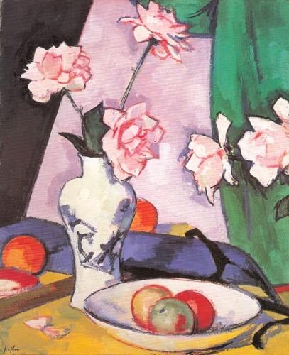 <em>Roses in a Vase</em>, 1923-24