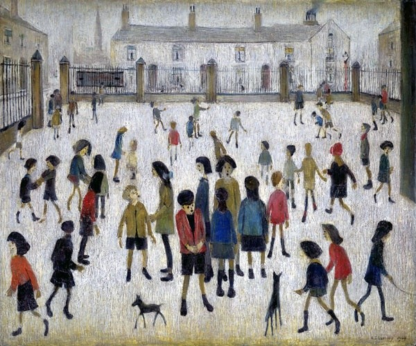 <em>The School Yard</em>, 1949