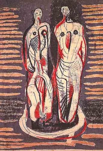 <em>Two Standing Figures</em>, 1948