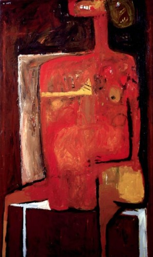 <em>Red Figure (Red Nude)</em>, 1954