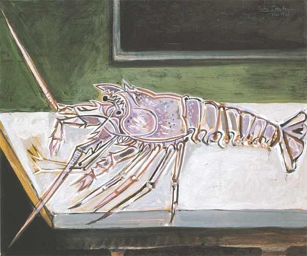 <em>Crayfish on a Table, Chios</em>, 1956