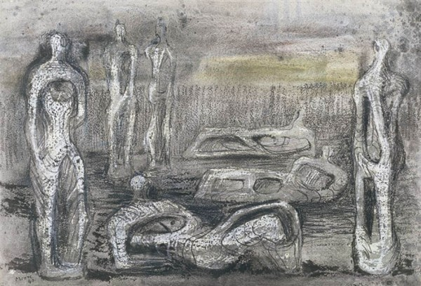 <em>Standing and Reclining Figures</em>, 1940