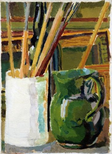 <em>Green Jug and Brush Pot</em>, c.1917