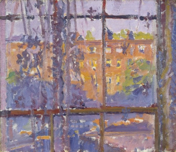 <em>Hampstead Road through a Window</em>
