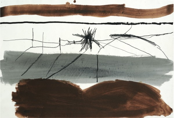 "<span class=""artist""><strong>Roger Hilton</strong></span>, <span class=""title""><em>Landscape - Grey & Brown</em>, 1967</span>"