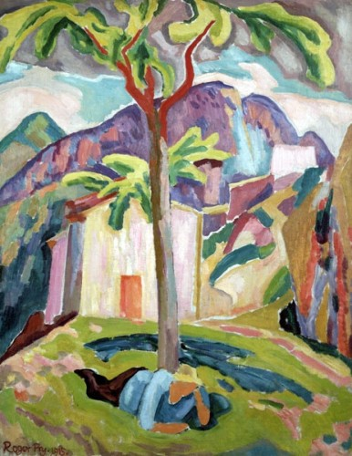 <em>Figure Resting under a Tree, St Agnes</em>, 1915