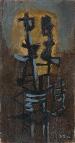 <span class=&#34;artist&#34;><strong>Roger Hilton</strong></span>, <span class=&#34;title&#34;><em>Deux Formes Debout</em>, c.1949</span>