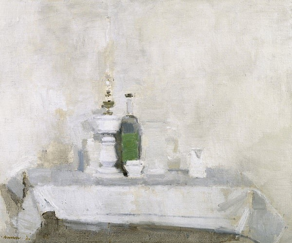 <em>Still Life - White Oil Lamp & Jug</em>, 1960