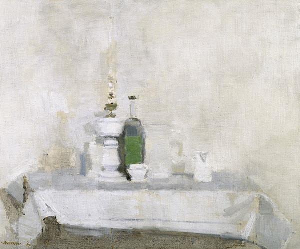 <em>Still Life - White Oil Lamp & Jug</em>, 1960