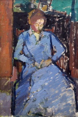 <em>The Blue Dress (Sylvia Gilman)</em>, c.1917