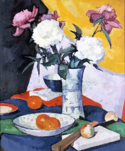 <em>Still Life with Roses in a Chinese Vase</em>, c.1920