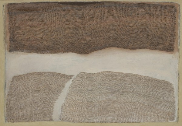 <span class=&#34;artist&#34;><strong>Pamela Burns</strong></span>, <span class=&#34;title&#34;><em>Chalk & Umber Field II</em>, 2009</span>