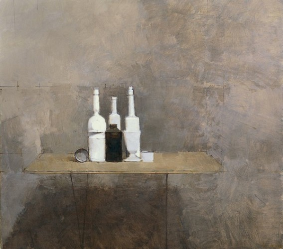 <em>White Bottle with Black Tin</em>, 1966