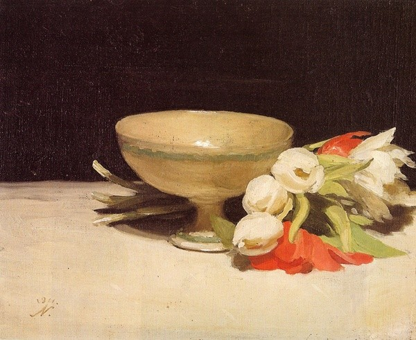<em>Tulips & A Libation Cup</em>, 1911